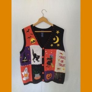🎃Basic Edition Halloween Witch Moon Knitted Vest